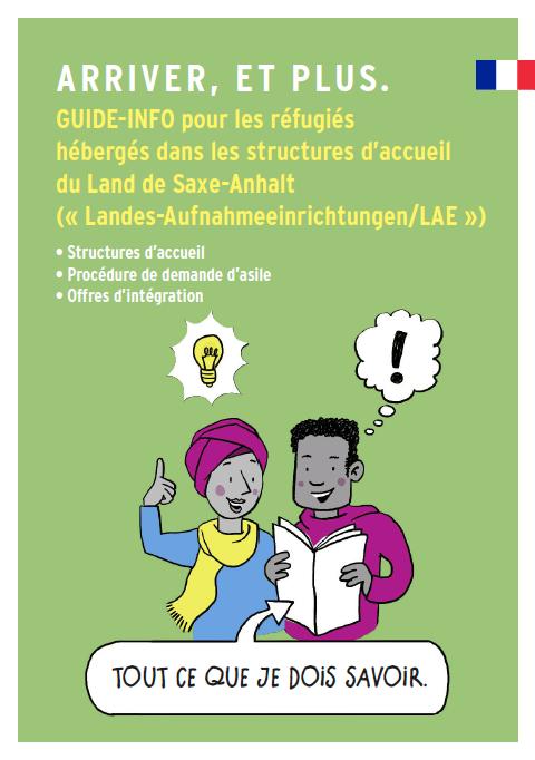 Guide-Info pour les réfugiés hébergés dans les structures d'accueil du Land de Saxe-Anhalt
