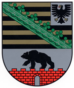 The coat of arms of the Land of Saxony-Anhalt.