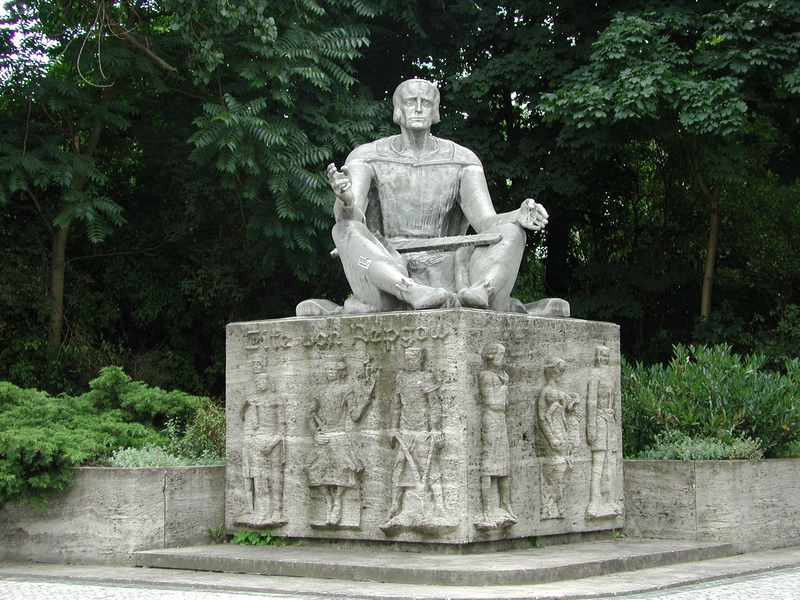 Monument Eike von Repgow in Magdeburg, photo: State Chancellery