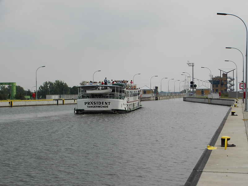 Lock for ships in Magdeburg; photo: Martin Seiler