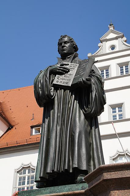 Luther monument in Wittenberg, photo: State Chancellery